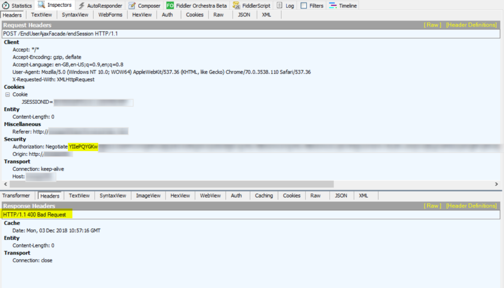 Kerberos authentication and HTTP header size -