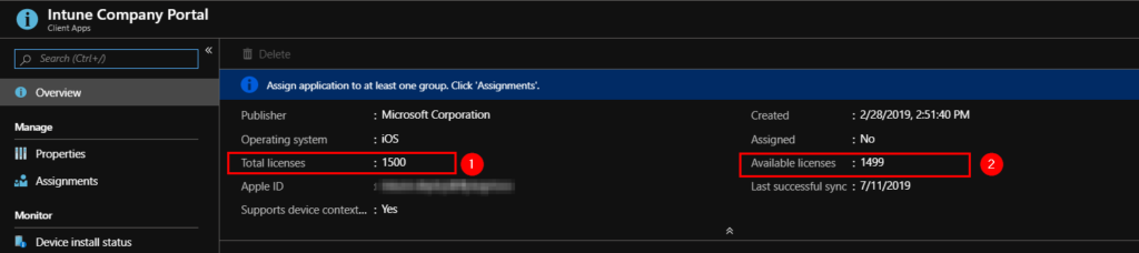 Intune - iOS Company Portal not downloading (user affinity) -